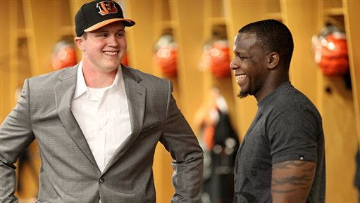 Rutgers products Tyler Kroft and Mohamed Sanu both were drafted by the Cincinnati Bengals, though Sanu left last month to join the Atlanta Falcons.