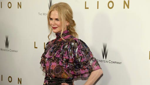 """Nicole Kidman attends the premiere of """"Lion"""" at the Museum of Modern Art on Wednesday, Nov. 16, 2016, in New York."""