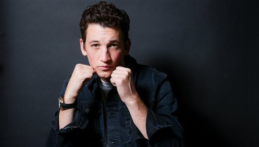 """In this Oct. 29, 2016 file photo, Miles Teller poses for a portrait in Los Angeles to promote his film, """"Bleed For This."""" Teller portrays boxer Vinny """"Paz"""" Pazienza in the film opening Friday, Nov. 18."""