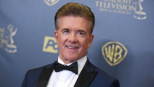 FILE - In this Sunday, April 26, 2015 file photo, Alan Thicke poses in the pressroom at the 42nd annual Daytime Emmy Awards at Warner Bros. Studios in Burbank, Calif. On Tuesday, Dec. 13, 2016, a publicist said the actor has died at the age of 69.