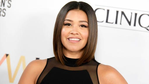 "FILE - This Nov. 19, 2016 file photo shows actress Gina Rodriguez at the 2016 Marie Claire ""Young Women's Honors"" in Los Angeles. The ""Jane the Virgin"" star is producer and host of the inaugural Marie Claire Young Women's Honors, airing Monday as a special on the CW at 9 p.m. ET."