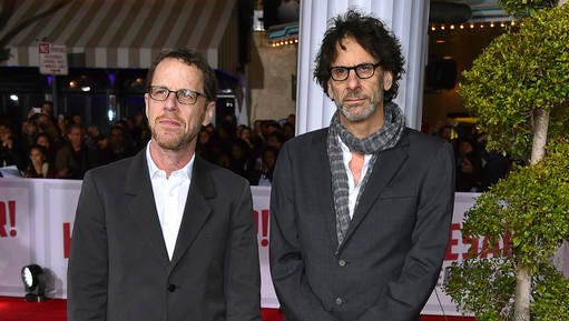 "FILE - This Feb. 1, 2016 file photo shows brothers Ethan Coen, left, and Joel Coen at the world premiere of ""Hail, Caesar!"" in Los Angeles. The Coen brothers will make their first TV show, a miniseries series titled, ""The Ballad of Buster Scruggs."" They will write and direct the project. (Photo by Jordan Strauss/Invision/AP, File)"