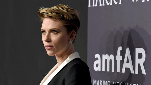 Scarlett Johansson attends amfAR's Fashion Week New York Gala at Cipriani Wall Street on Wednesday, Feb. 8, 2017, in New York.