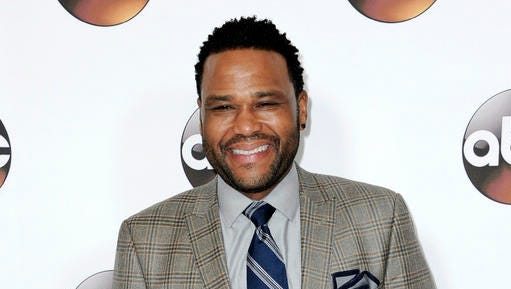 FILE - This Jan. 10, 2017 file photo shows Anthony Anderson at the Disney/ABC portion of the 2017 Winter Television Critics Association press tour in Pasadena, Calif. Anderson will host his own talk show on the Animal Planet network. 'Animal Nation' debuts Friday.