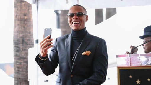 FILE - In this Jan. 23, 2017, file photo, Ronnie DeVoe attends a ceremony honoring New Edition with a star on the Hollywood Walk of Fame in Los Angeles. DeVoe announced that his wife is pregnant through an Instagram post on Feb. 22, 2017.