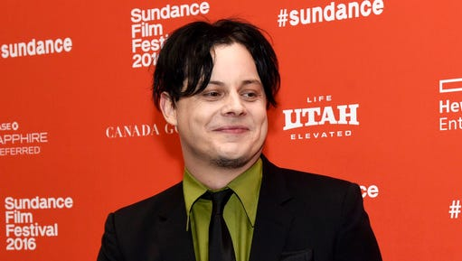 """FILE - This Jan. 28, 2016 file photo shows musician Jack White, an executive producer of """"American Epic,"""" at the premiere of the four-part PBS music documentary series at the 2016 Sundance Film Festival in Park City, Utah. White returns to his hometown of Detroit this weekend for the opening of a vinyl record pressing plant at his Third Man Records store, which he opened two years ago in a neighborhood that has been undergoing a revitalization since the city emerged from bankruptcy."""