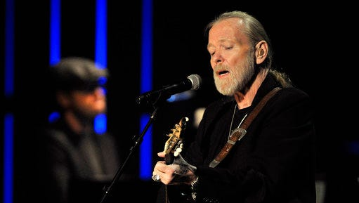 """FILE - In this Oct. 13, 2011, file photo, Gregg Allman performs at the Americana Music Association awards show in Nashville, Tenn. On Monday, March 13, 2017, Allman posted on his website that he has canceled all of his scheduled tour dates for the year. The 69-year-old rocker posted that """"it has been determined that Gregg will not be touring in 2017."""" In November 2016, Allman said he was taking several months off from touring so he can """"focus on his health,"""" but still had plans to tour."""