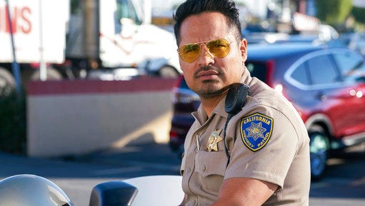 """This image released by Warner Bros. Pictures shows Michael Pena in a scene from, """"CHiPS."""""""