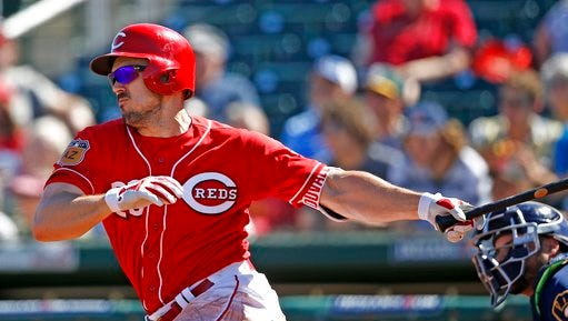 Reds left fielder Adam Duvall finished the spring with a team-high six home runs, including one in Wednesday's Cactus League finale.