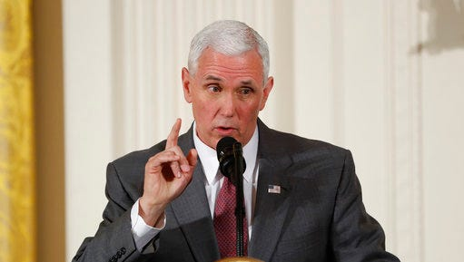 Vice President Mike Pence speaks at the Women's Empowerment Panel, Wednesday, March 29, 2017, at the White House in Washington.