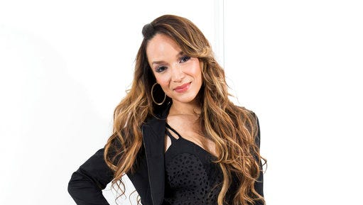 "In this April 6, 2017 photo, Mayte Garcia, first wife of the late pop singer Prince, poses for a portrait in New York to promote her book, ""The Most Beautiful: My Life with Prince."""