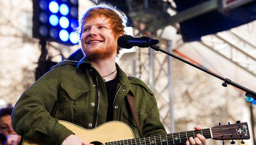 """FILE - In a Wednesday, March 8, 2017 file photo, Ed Sheeran performs on NBC's """"Today"""" show, in New York. A federal judge dismissed a copyright infringement lawsuit against Sheeran over his hit """"Photograph"""" on Monday, April 10, 2017, after attorneys settled the case for undisclosed terms. Sheeran was sued by a pair of composers who said Sheeran's song copied their song """"Amazing."""""""