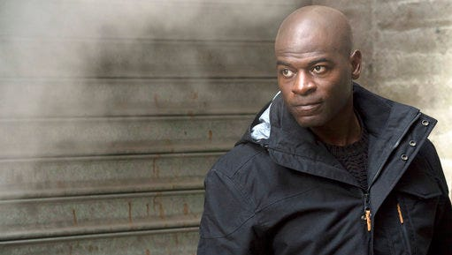 "In this image released by NBC, Hisham Tawfiq portrays Dembe Zuma in a scene from ""The Blacklist,"" airing Thursday at 9 p.m. ET."