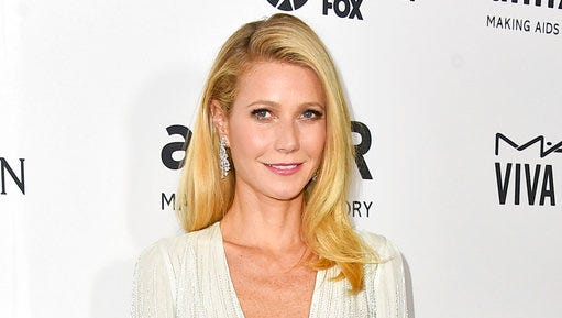"FILE - In this Oct. 29, 2015 file photo, Gwyneth Paltrow arrives at the amfAR Inspiration Gala in Los Angeles. Paltrow is hosting her lifestyle brand's first health event. The actress and Goop.com founder announced Thursday, April 20, 2017, that the inaugural ""In goop Health"" wellness summit on June 10 will feature appearances by Cameron Diaz, Nicole Richie and Lena Dunham."