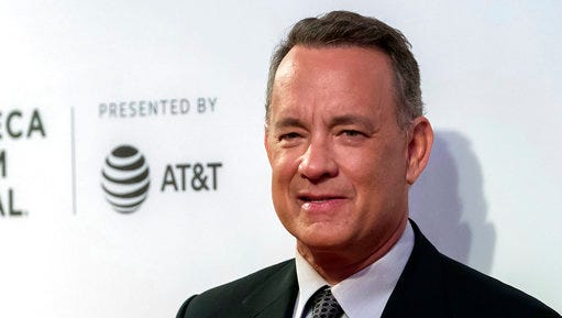 "Tom Hanks attends ""The Circle"" premiere during the 2017 Tribeca Film Festival on Wednesday, April 26, 2017, in New York."