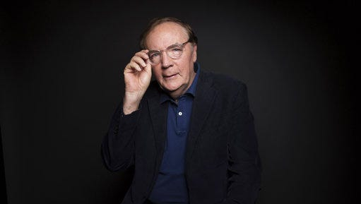 FILE - In this Aug. 30, 2016, file photo, author James Patterson poses for a portrait in New York. Aaron Hernandez, the former NFL player and convicted murderer found hanging by a bedsheet in prison on April 19, 2017, will be the subject of an upcoming true crime book by Patterson. Little, Brown and Co. told The Associated Press on Thursday, April 27, 2017, that Patterson's book, not yet titled, is scheduled for early 2018.