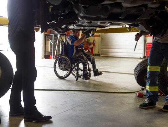 Ivy tech students build modified wheelchair for fellow student for 2 story wheelchair lift