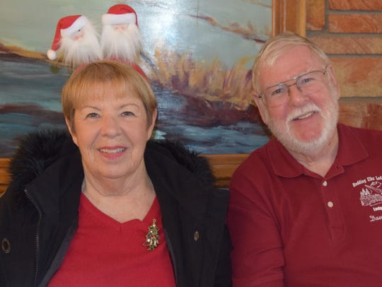 Carol and Fred Starnes of Redding attend the Elks Christmas