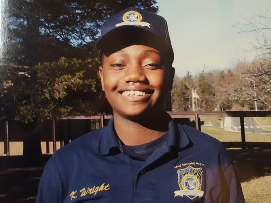 Kala Wright of North Plainfield, a freshman in the Law and Public Safety program at Somerset Vo-Tech, was one of several students who came to the aid of her bus driver Wednesday morning.