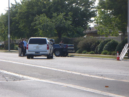 Scene of a shooting involving a sheriff's deputy in
