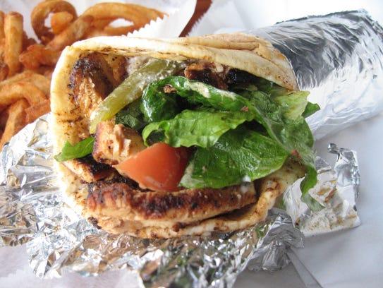 The chicken shawarma sandwich at Detroit's Bucharest