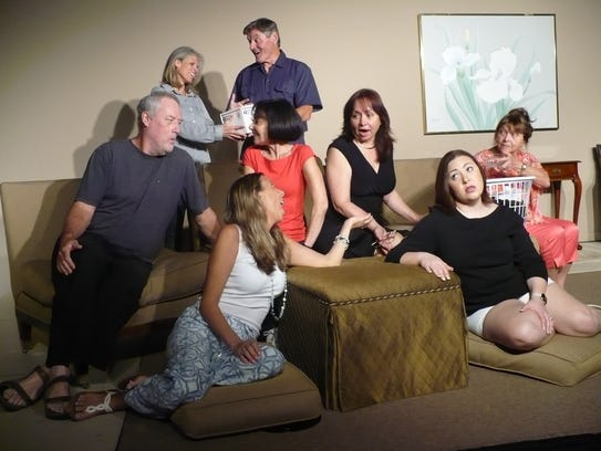 A group of women in divorce therapy and their therapist,