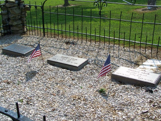 The graves of Frank, William and Simeon Reno are buried