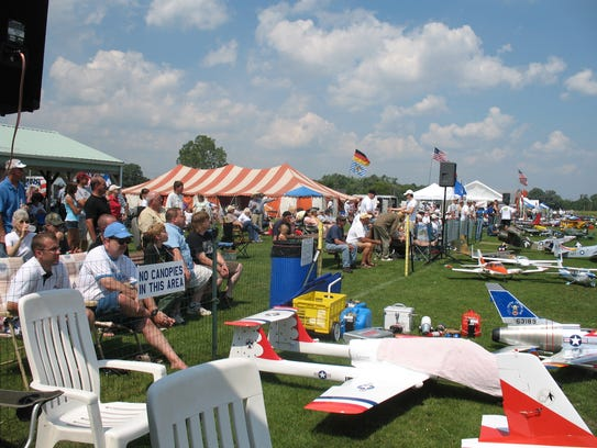 Thousands travel to a little flying field south of