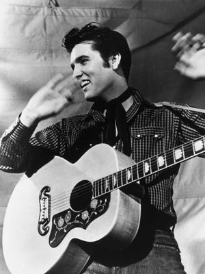Elvis Presley in a 1957 MGM studio publicity photo.