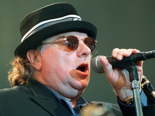 Van Morrison performs in 1998.