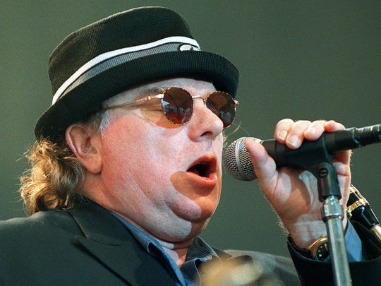 Van Morrison performs in 1998.