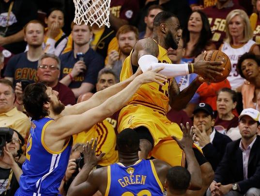 AP NBA FINALS WARRIORS CAVALIERS BASKETBALL S BKN USA OH