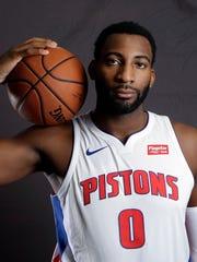 Pistons center Andre Drummond.