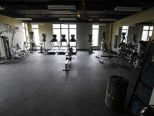 The gym at the Q Burke Resort in East Burke sits full