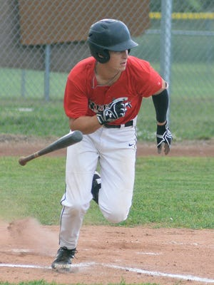 Newton Rebel Andrew Brautman went 2-for-3 hitting in the first game of a doubleheader against the Haysville Aviators.