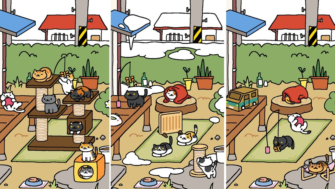 Phone Game Cat Tamagotchi