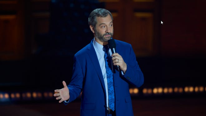 Producer-writer-director Judd Apatow performs stand-up at Montreal's Just for Laughs Comedy Festival.