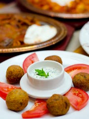 A falafel platter among other offerings at the Istanbul