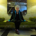 Style files shoot of 89-year-old Jane Broderick Thomas at Hotel DuPont.