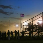 Spectators watch the races on a recent Saturday night at Canandaigua Motorsports Park.