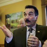AP FILENew Jersey Assembly Leader Vincent Prieto announced the details of a bill to raise the state's minimum wage to $15 an hour. New Jersey Assembly Speaker Vincent Prieto, D-Secaucus, N.J., answers a question after he announced that lawmakers will focus on rolling back poverty in the state in the new legislative session, Wednesday, Jan.20, 2016, at the the Statehouse in Trenton, N.J. Prieto pointed to a study by Legal Services of New Jersey that calculated there are 2.8 million residents in poverty in the state as the impetus for the effort. (AP Photo/Mel Evans)