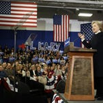 Democratic presidential candidate Hillary Clinton speaks in Hooksett, N.H., in February. Clinton is staking her campaign comeback hopes on her ability to woo black and Latino voters, placing outreach to them at the center of her strategy to retool her 2016 bid.