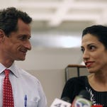 Anthony Weiner and Huma Abedin (John Moore, Getty Images)