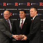 RAW VIDEO: Rutgers football Ring of Honor drill