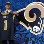 Jared Goff will compete right away for the starting QB spot on the Los Angeles Rams.