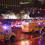 In this Dec. 20, 2015 file photo, police and emergency crews respond to the scene of an incident along Las Vegas Boulevard.