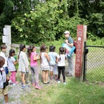 Campers explore the wildlife on Patriot's Path
