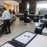 The P.C. Richard & Son mattress display area at the 2014 SleepCon, held Saturday at Monmouth University's MAC.