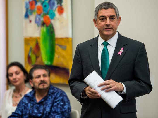 Lt. Governor Jay Dardenne speaks during a news conference