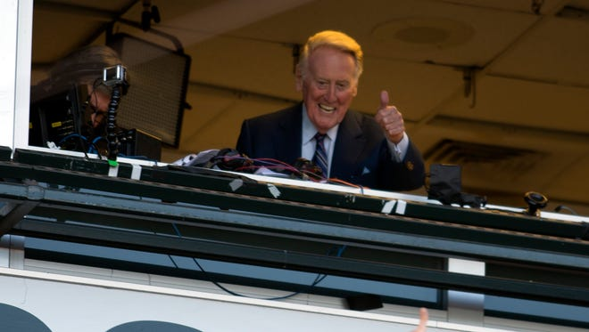 Even in San Francisco, fans are clamoring for a final glimpse of Vin Scully, Dodgers broadcaster.